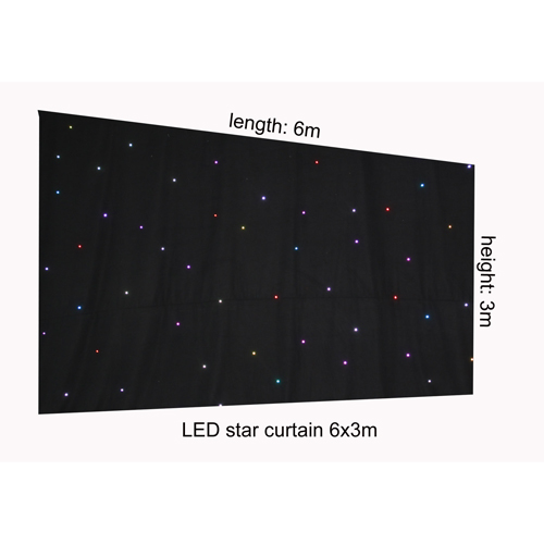RGB led start curtain lights Starry cloth