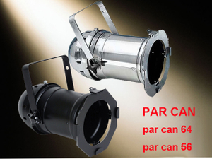 Black& White Color Aluminum Case Par Can 1000w / Par Can 64