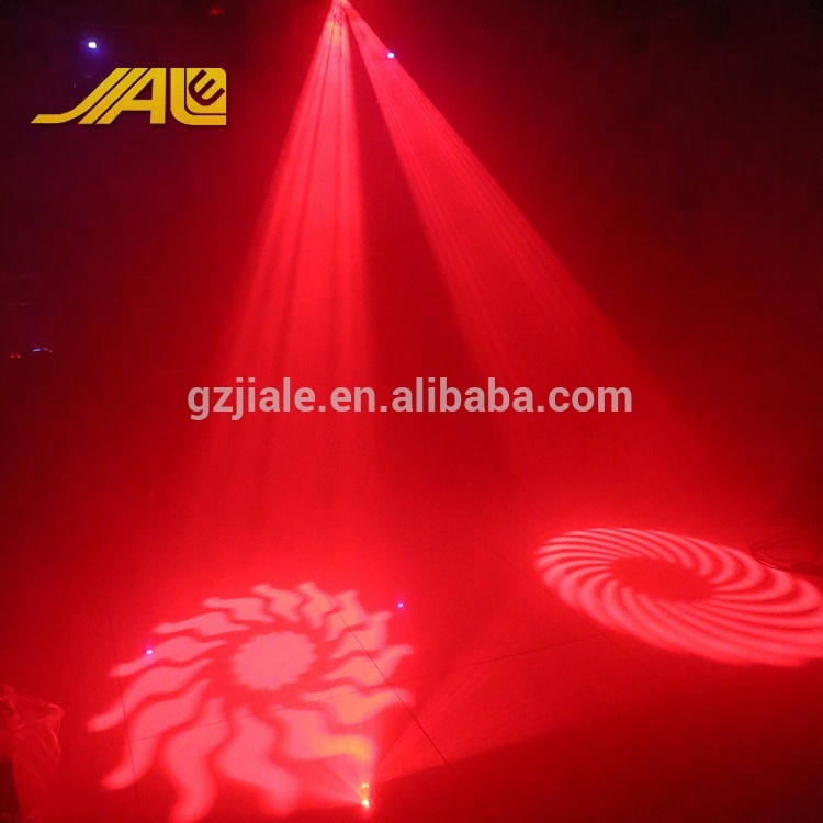 4 Gobos Disco Light LEDs Led Effect Light RGBW Gobo Projector